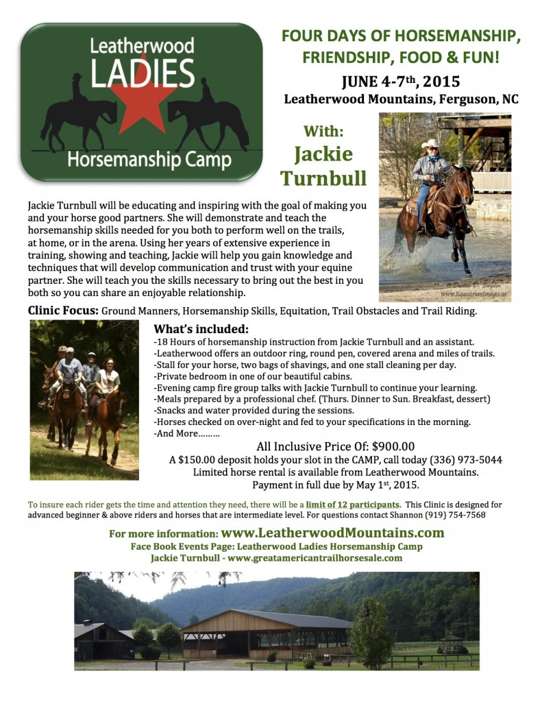 Ladies Horsemanship Flyer