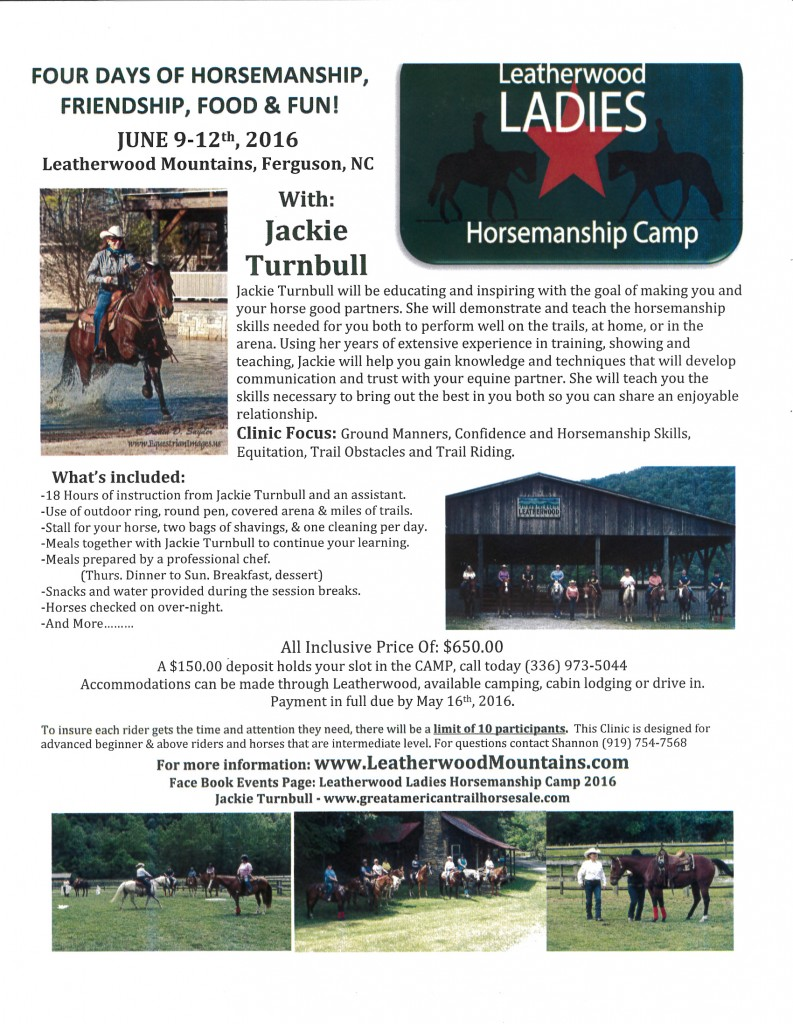 Ladies Horsmanship weekend & clinic with Jackie Turnbull