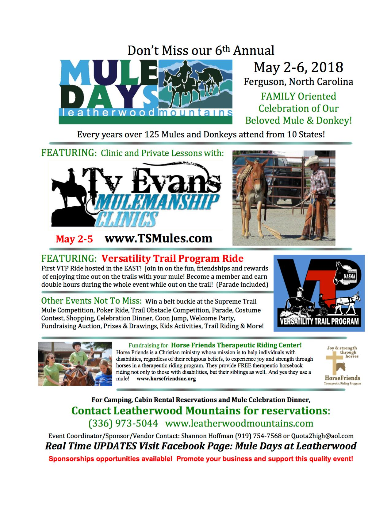 Mule Days at Leatherwood Mountains