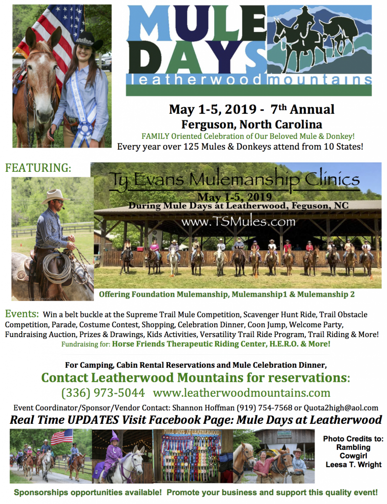 Mule Days at Leatherwood Mountains @ Leatherwood Mountains