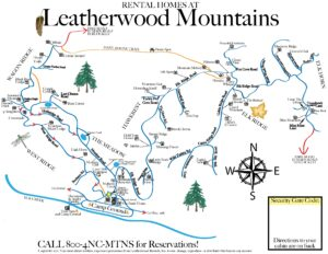 Rental Homes at Leatherwood Mountains Map