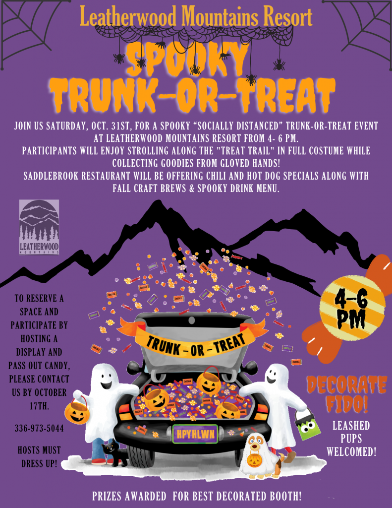 "Leatherwood Mountains Spooky ""Socially Distanced"" Trunk-or-Treat"