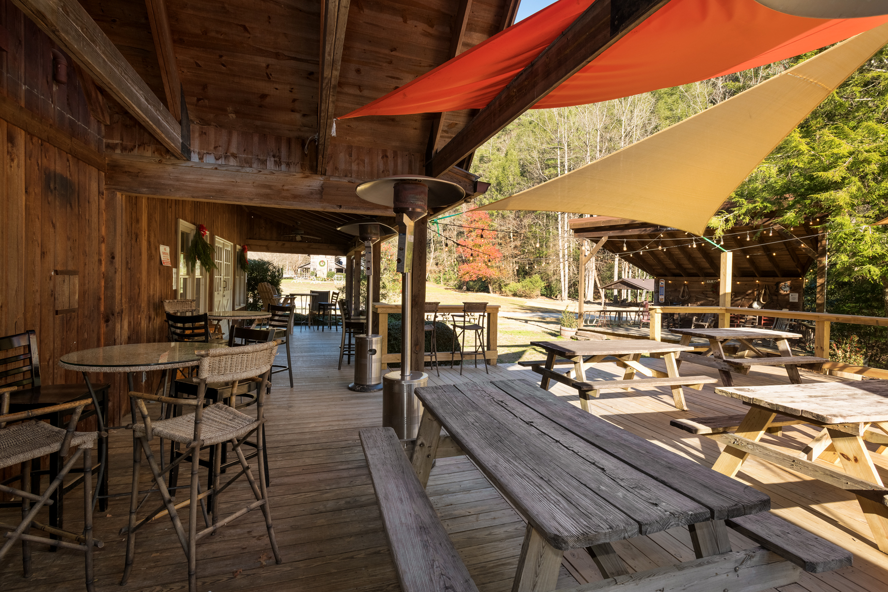 Saddlebrook's outdoor dining & entertainment area.
